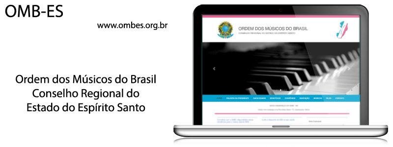 Website Institucional : Ordem dos Músicos do Brasil - ES