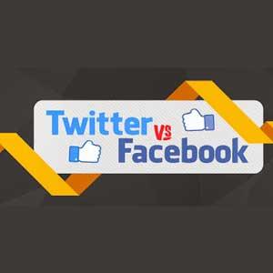 Infográfico - Facebook vs Twitter